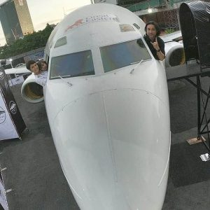 Plane in the City